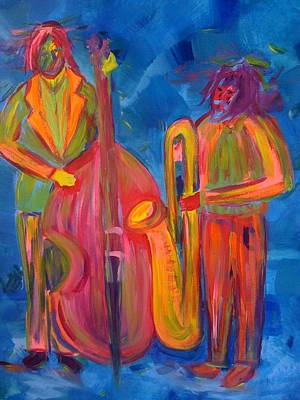 Poster featuring the painting All That Jazz by Judi Goodwin