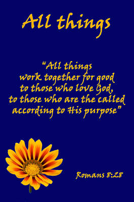 All Things Romans Chapter Eight Verse Twenty Eight. Poster