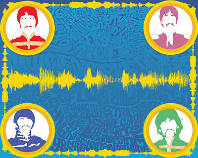 All You Need Is Love Inspired Digital Soundform Poster