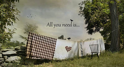 All You Need Poster by Robin-Lee Vieira