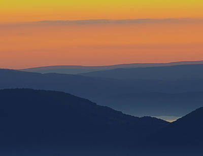 Allegheny Mountain Morning Poster