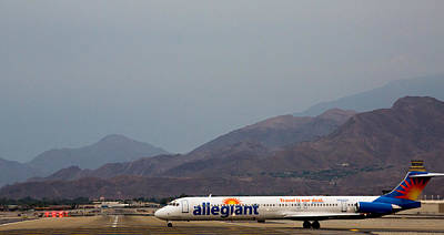 Allegiant At Palm Springs Airport Poster by John Daly