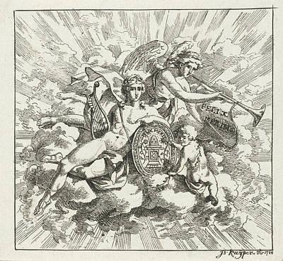 Allegorical Composition By Felix Meritis Poster
