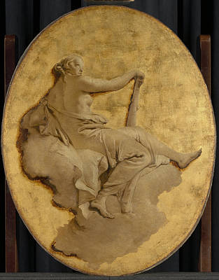 Allegorical Figure Of A Woman With A Club Fortitude Poster by Litz Collection
