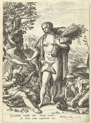 Allegory Of Charity, Hendrick Goltzius Poster by Hendrick Goltzius