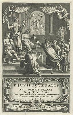 Allegory Of Conflict, Print Maker Reinier Van Persijn Poster by Reinier Van Persijn And Franciscus Hackius