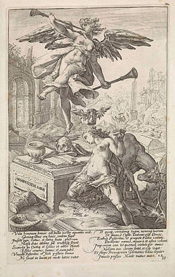 Allegory Of Fame And History, Anonymous, Hendrick Goltzius Poster