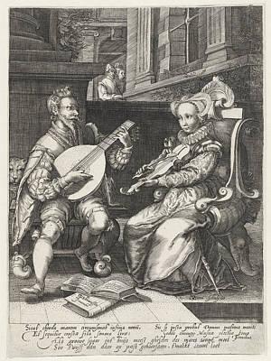 Allegory Of Marriage, Print Maker Gillis Van Breen Poster by Gillis Van Breen And Cornelis Cussens And Theodorus Schrevelius