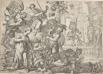 Allegory Of Peace, Remoldus Eynhoudts, Peter Paul Rubens Poster by Remoldus Eynhoudts And Peter Paul Rubens