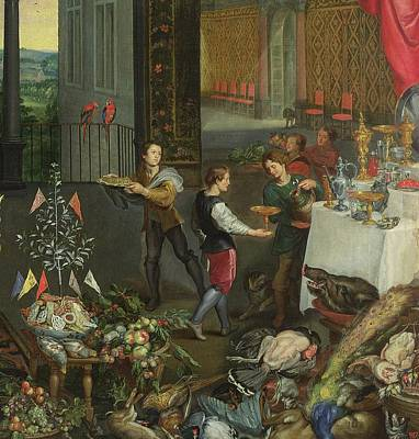 Allegory Of Taste, Detail Of Servers Bringing Wine, 1618 Oil On Panel Detail Of 61052 Poster