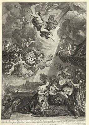 Allegory Of The Birth Of Princess Maria Amalia Poster by Cornelis Van Dalen (ii)
