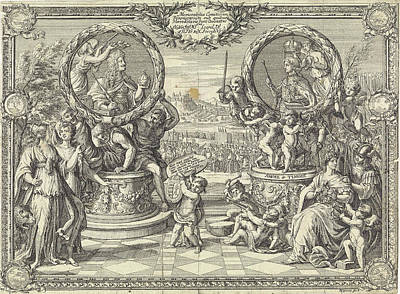 Allegory Of The Coronation Of Joseph I King Of Hungary Poster by Justus Van Den Nijpoort