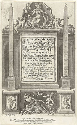 Allegory Of The History Of The Netherlands Poster by Willem Jacobsz. Delff