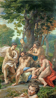 Allegory Of The Vices Poster by Correggio