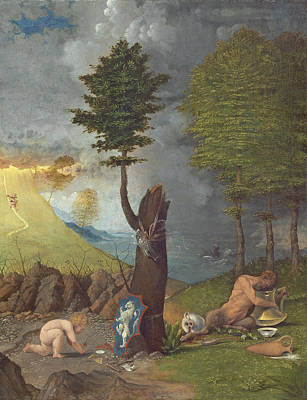 Allegory Of Virtue And Vice, 1505 Oil On Panel Poster