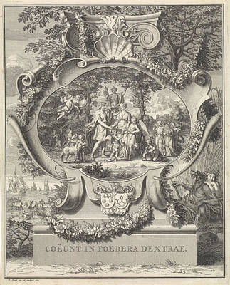 Allegory On The Occasion Of The Marriage Of Jacob Alewijn Poster by Bernard Picart