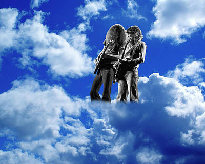 Poster featuring the photograph Allen And Steve In Clouds by Ben Upham