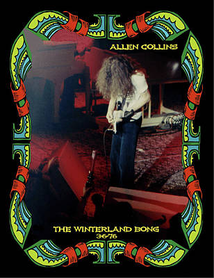 Poster featuring the photograph A C  Winterland Bong 6 by Ben Upham