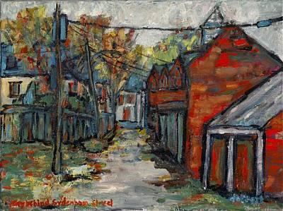 Alley Behind Sydenham Street Poster by David Dossett