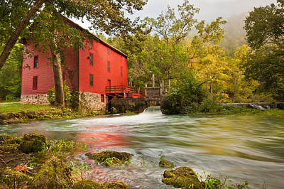 Poster featuring the photograph Alley Spring Mill - Eminence Missouri by Gregory Ballos