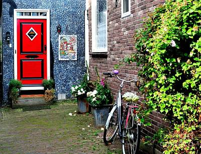 Poster featuring the photograph Alleyway In Dutch Village by Joe  Ng