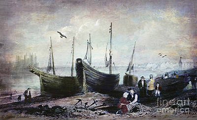 Allonby - Fishing Village 1840s Poster by Lianne Schneider