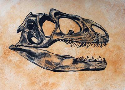 Allosaurus Skull Poster by Harm  Plat