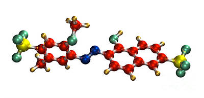 Allura Red Ac Food Coloring Molecule Poster by Dr. Mark J. Winter