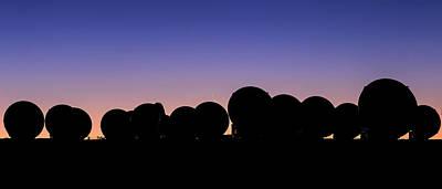 Alma Radio Telescopes At Sunset Poster