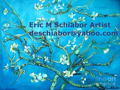 Almond Blossom Branches Poster by Eric  Schiabor