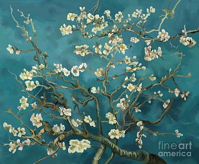 Poster featuring the painting Almond Blossoms' Reproduction by Tim Gilliland