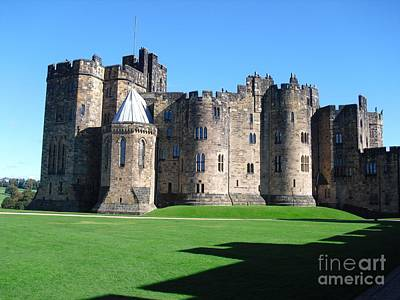 Poster featuring the photograph Alnwick Castle Castle Alnwick Northumberland by Paul Fearn