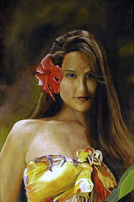Poster featuring the painting Aloha by Rick Fitzsimons
