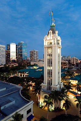 Aloha Tower - The Aloha Tower In Downtown Honolulu Poster