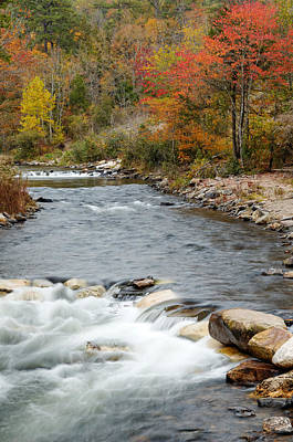 Along The Banks Of The Mountain Fork River Poster