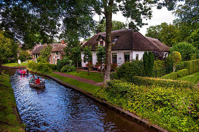 Along The Canal. Giethoorn. Netherland Poster by Jenny Rainbow