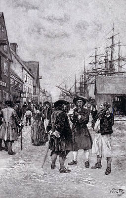 Along The Water Front In Old New York, Illustration From The Evolution Of New York By Thomas A Poster