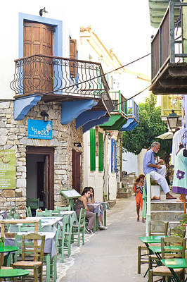 Alonissos Old Village Poster by Tom Gowanlock