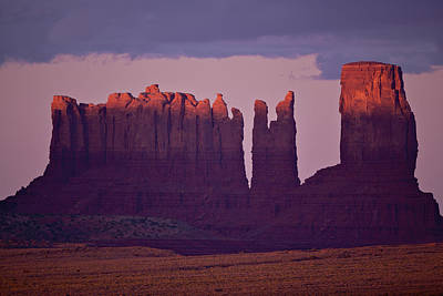 Alpen Glow On Monument Valley  C6j4475 Poster