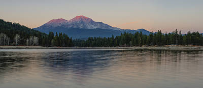 Alpenglow At The Lake Poster