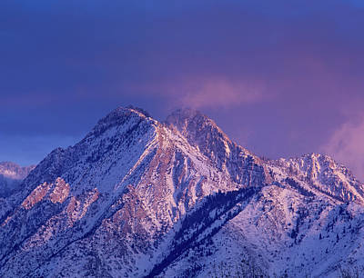 Alpenglow On Mount Olympus Poster
