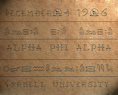 Alpha Hieroglyphics Poster by Rodney Wofford
