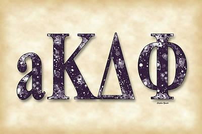 alpha Kappa Delta Phi - Parchment Poster
