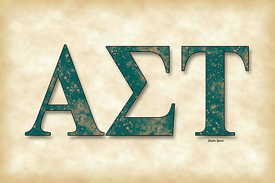 Alpha Sigma Tau - Parchment Poster by Stephen Younts