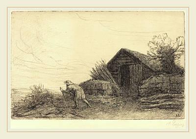 Alphonse Legros, Along The Top Of The Hill Sur Le Haut De Poster by Litz Collection