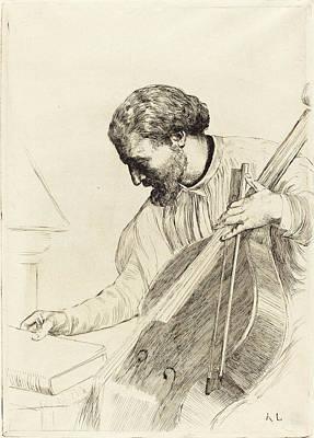 Alphonse Legros, Contre-bass Player Le Joueur De Poster by Quint Lox