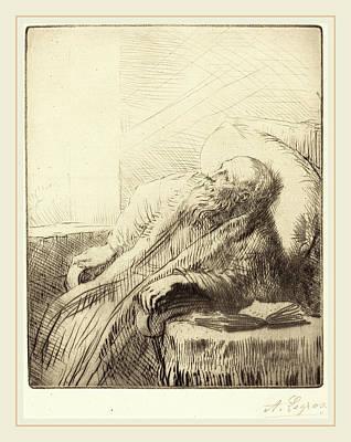 Alphonse Legros, Convalescent Le Convalescent Poster