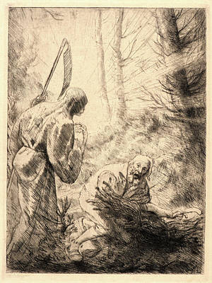Alphonse Legros French, 1837 - 1911. Death Poster