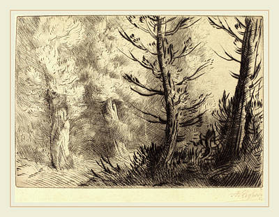 Alphonse Legros, In The Forest Of Fontainebleau Dans Le Poster