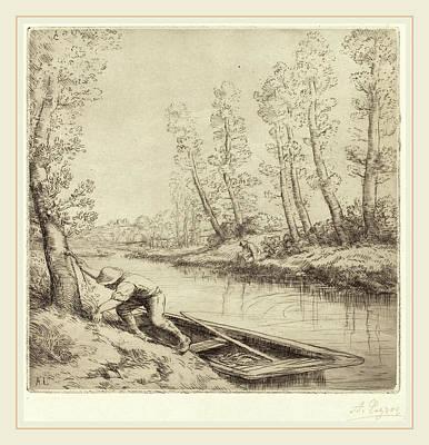 Alphonse Legros, Morning Along The River La Matin Sur La Poster